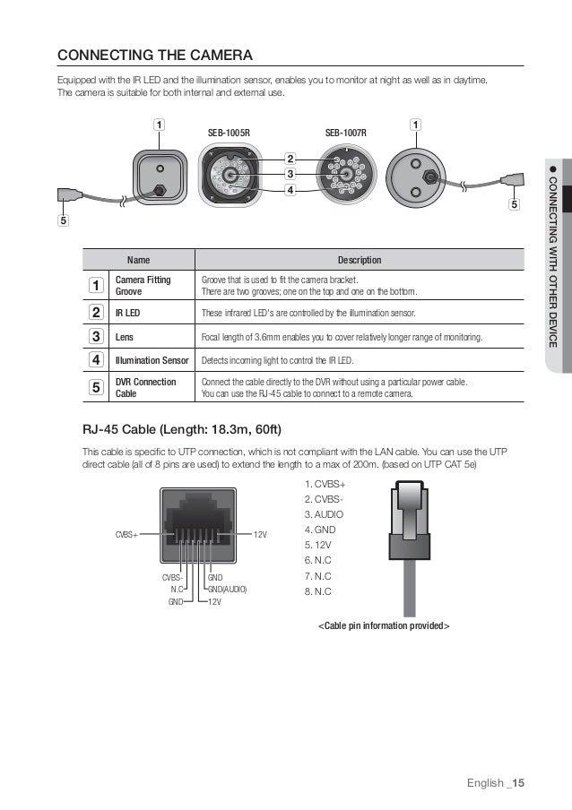 samsung digital color camera seb 1005r wiring diagram   53