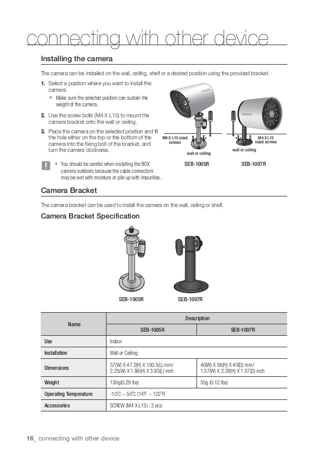 Samsung Security Camera Wiring Diagram - Somurich.com