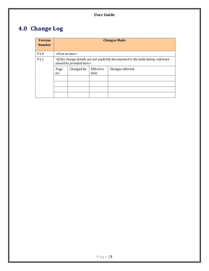 User manual template – Free User Guide Template