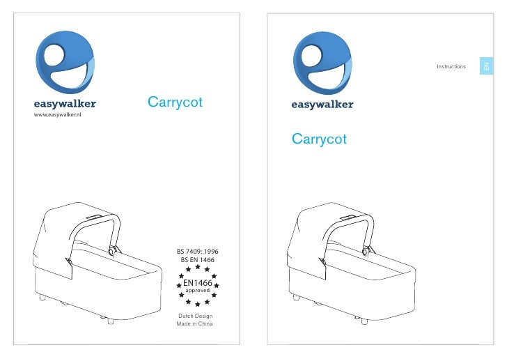 easywalker sky/qtro carrycot user manual UK English
