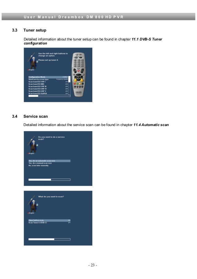 Dreambox dm800 Hd user Manual