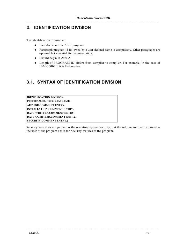 Cobol manuals Ibm