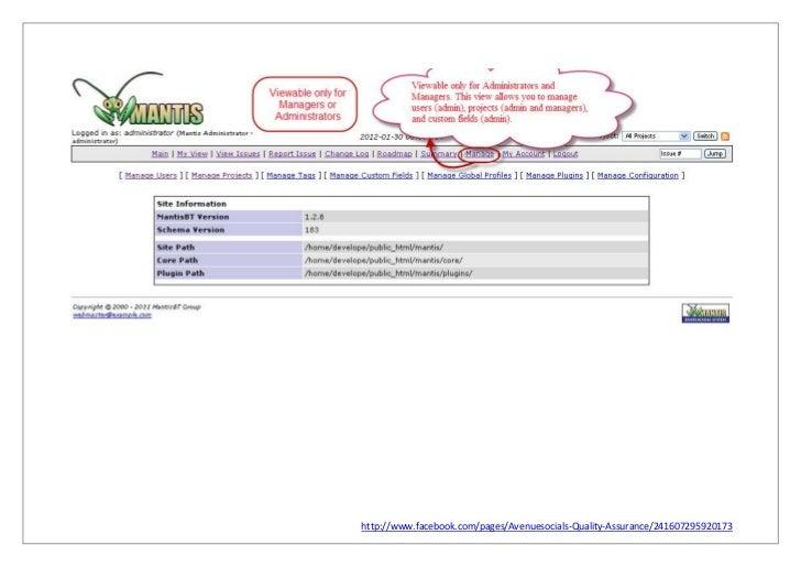 user manual for mantis rh slideshare net User Manual Template User Manual Template