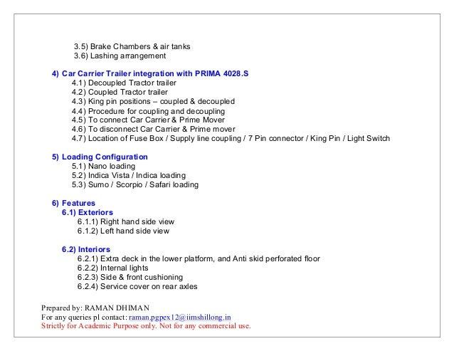 user manual for tata prima 4928 car carrier application rh slideshare net prima tv user manual prima user manual