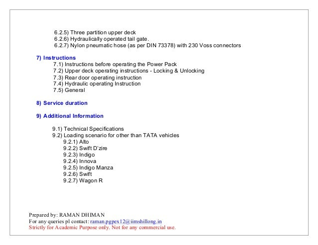 user manual for tata prima 4928 car carrier application rh slideshare net oster primalatte user manual prima lpr730 user manual