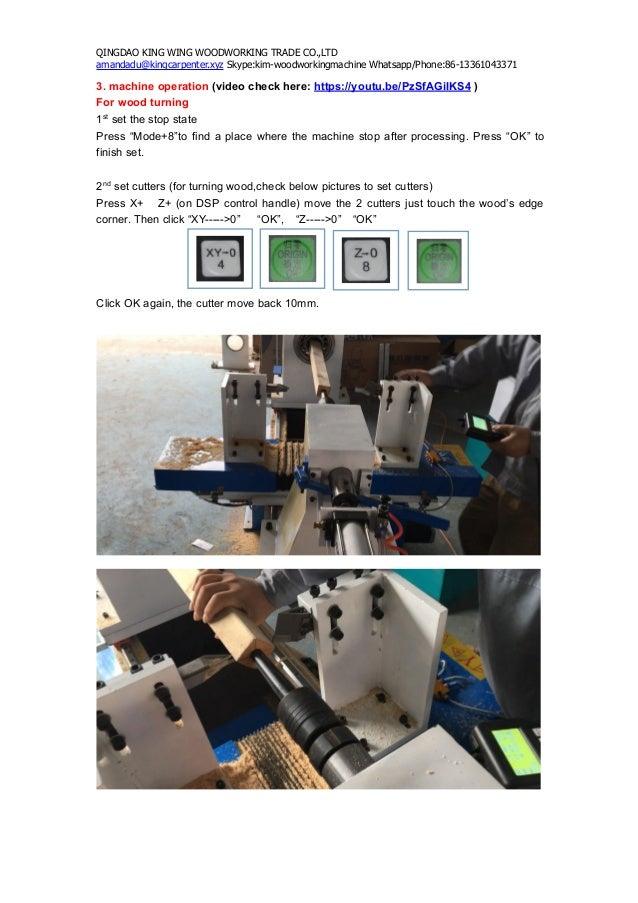 Cnc Wood Turning Lathe Machine Use Manual