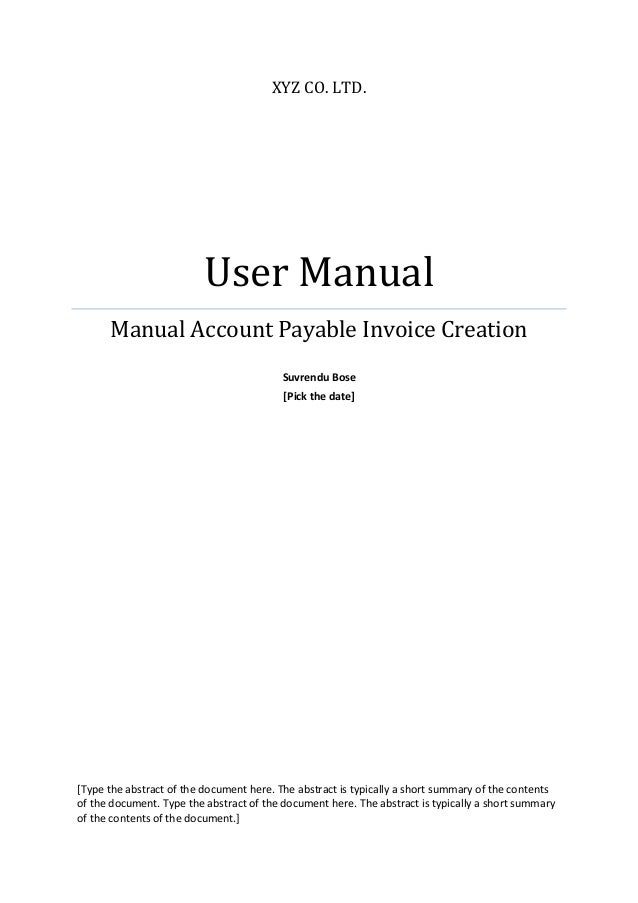 sample oracle payable user manual rh slideshare net oracle accounts payable implementation guide r12 Oracle E-Business Suite