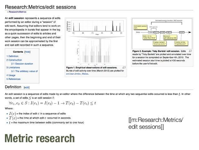 Metric research [[m:Research:Metrics/ edit sessions]]