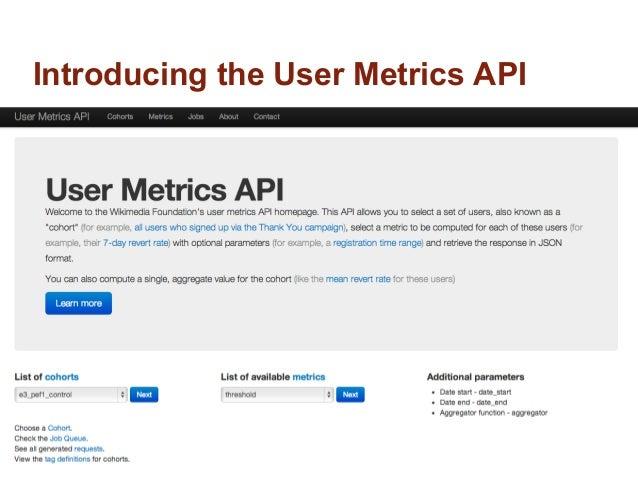 Introducing the User Metrics API