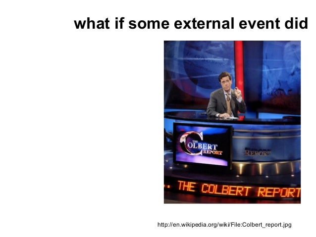 what if some external event did           http://en.wikipedia.org/wiki/File:Colbert_report.jpg