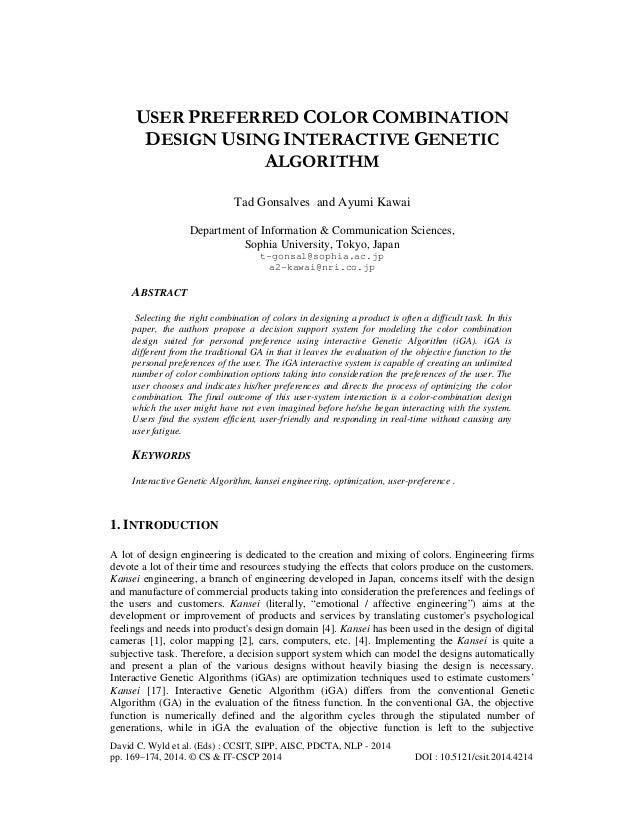 David C. Wyld et al. (Eds) : CCSIT, SIPP, AISC, PDCTA, NLP - 2014 pp. 169–174, 2014. © CS & IT-CSCP 2014 DOI : 10.5121/csi...