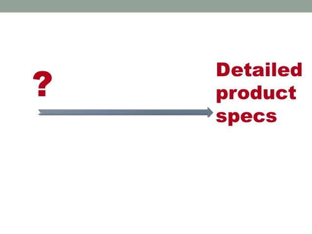 ? Detailed product specs