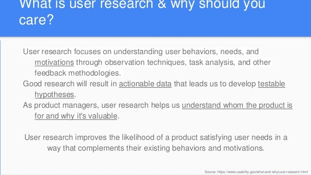 Validating product ideas through research