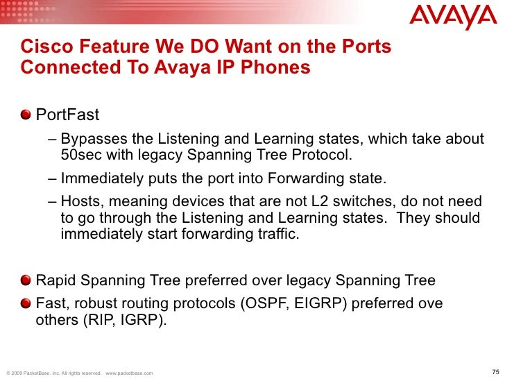 Avaya VoIP on Cisco Best Practices by PacketBase