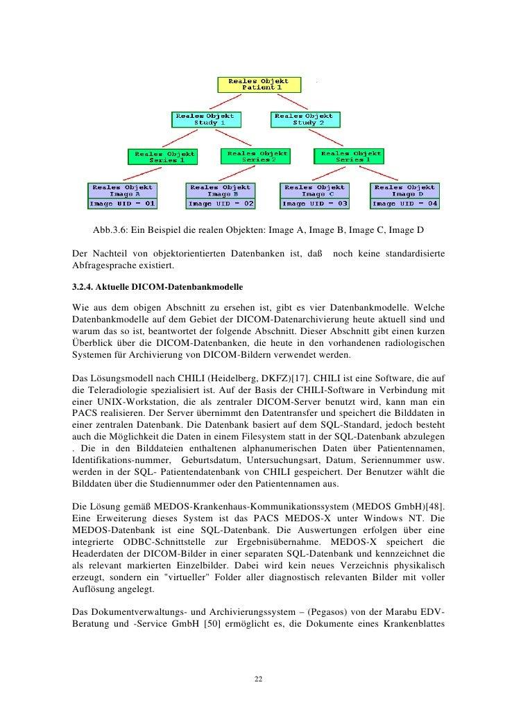 Abb.3.6: Ein Beispiel die realen Objekten: Image A, Image B, Image C, Image D  Der Nachteil von objektorientierten Datenba...