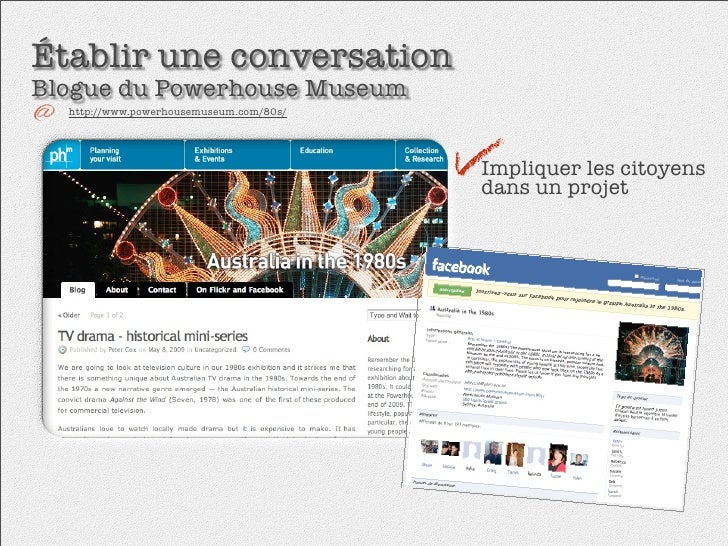 Établir une conversation Blogue du Powerhouse Museum   http://www.powerhousemuseum.com/80s/                               ...