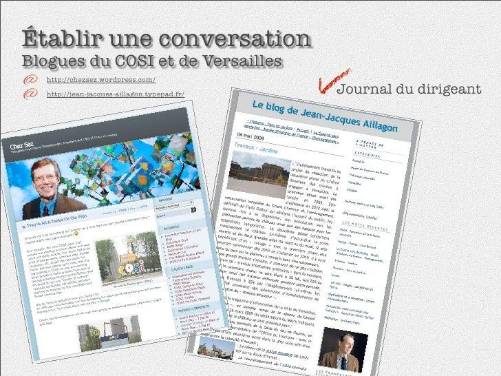 Établir une conversation Blogues du COSI et de Versailles    http://chezsez.wordpress.com/                                ...