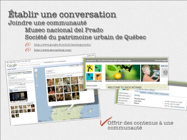 Établir une conversation Joindre une communauté   Museo nacional del Prado     Société du patrimoine urbain de Québec  ...
