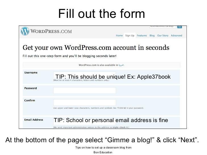 how to create a classroom blog