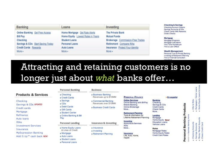 Attracting and retaining customers is no longer just about what banks offer…