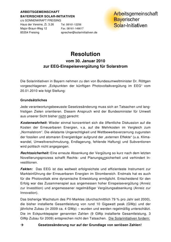 ARBEITSGEMEINSCHAFT BAYERISCHER SOLAR-INITIATIVEN c/o SONNENKRAFT FREISING Haus der Vereine, Zi. 3.26 Tel. 08161-12256 Maj...