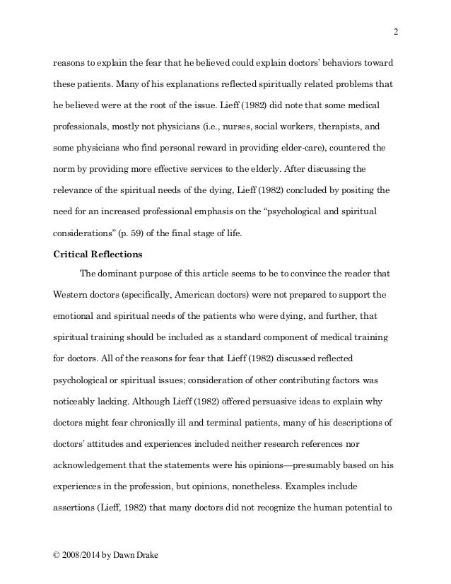 journal article review sample
