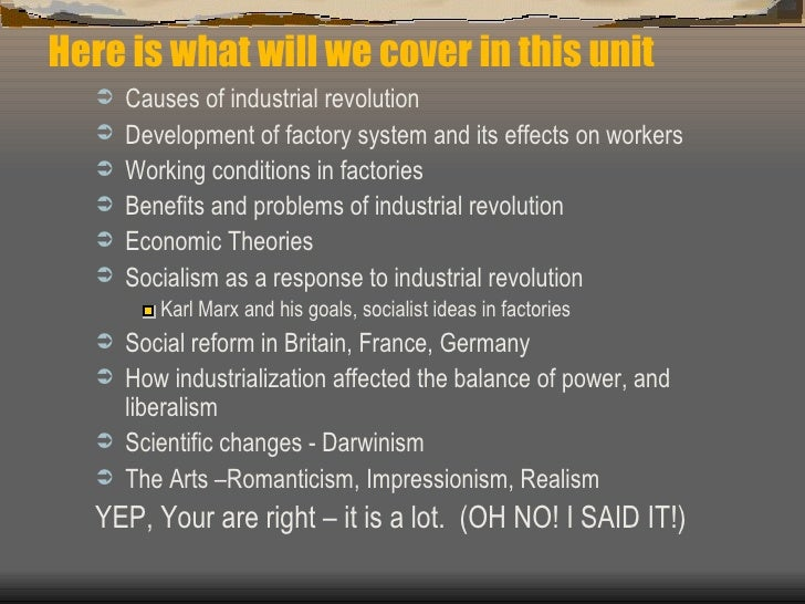 benefits of the industrial revolution