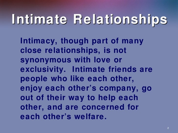 relationship of family and friends