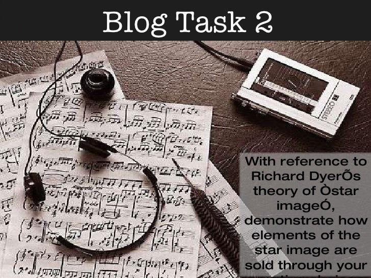"""Blog Task 2 With reference to Richard Dyer's theory of """"star image"""", demonstrate how elements of the star image are sold t..."""