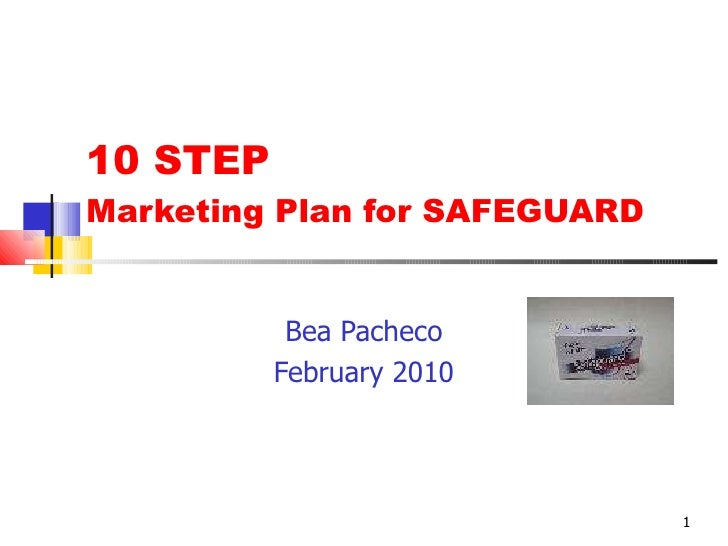 10 STEP  Marketing Plan for SAFEGUARD Bea Pacheco February 2010