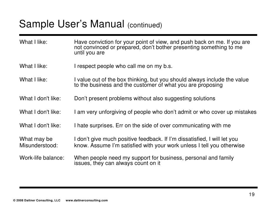 Tips for writing user manuals