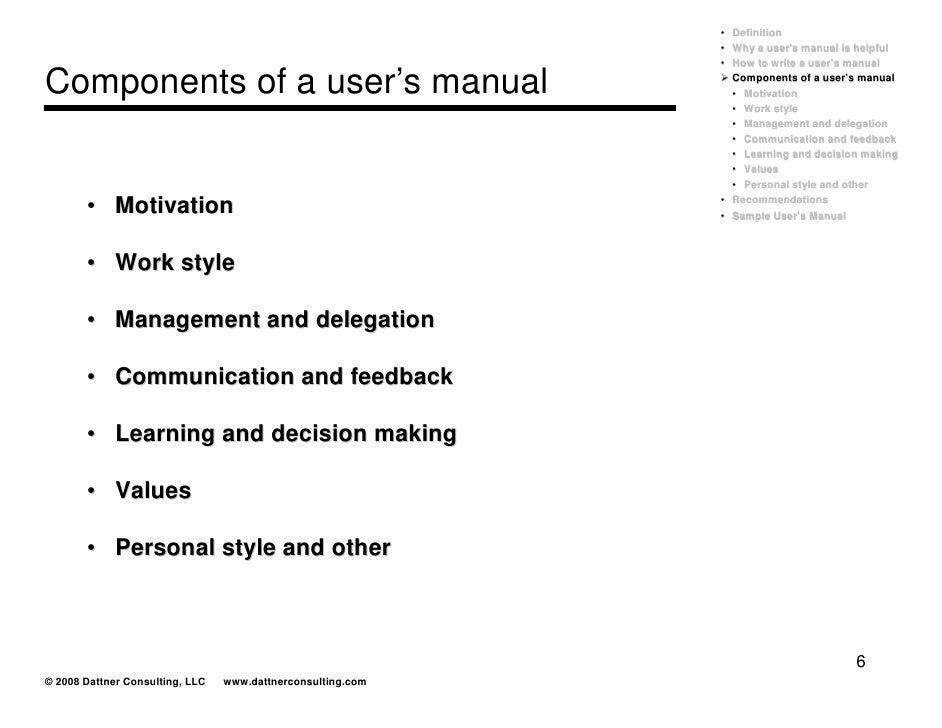Work Instruction Manual Definition Good Owner Guide Website