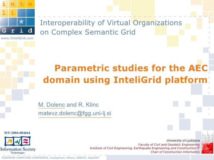 Interoperability of Virtual Organizations                           on Complex Semantic Grid www.InteliGrid.com           ...
