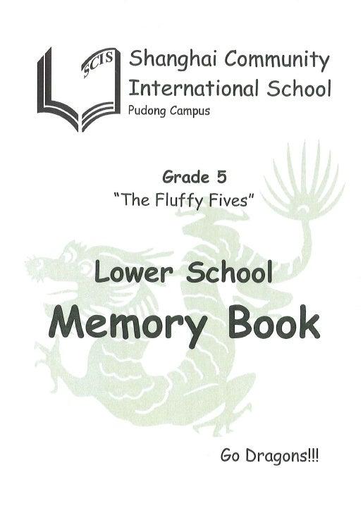 SCIS Pudong Grade 5 Memory Book 2008