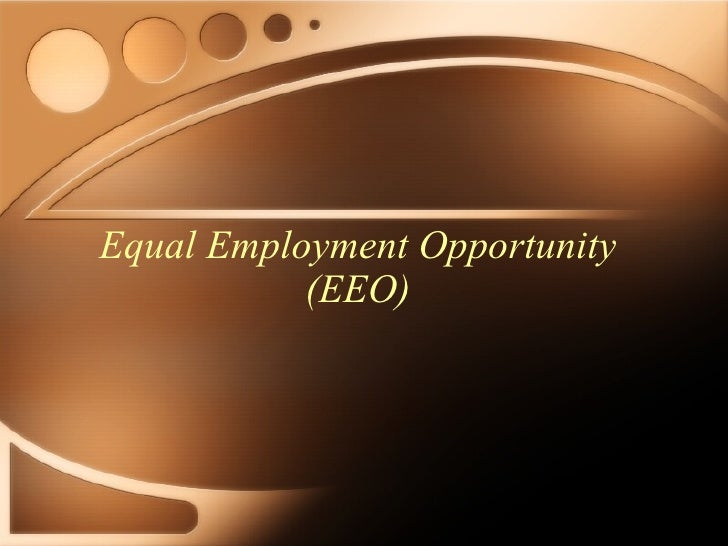 equal opportunity employment Generally, the terms equality of opportunity and equal opportunity are interchangeable, with occasional slight variations the former has more of a sense of being an abstract political concept while equal opportunity is sometimes used as an adjective, usually in the context of employment regulations, to identify an employer, a hiring approach, or law.