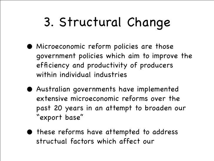 Economic Reforms In Australia