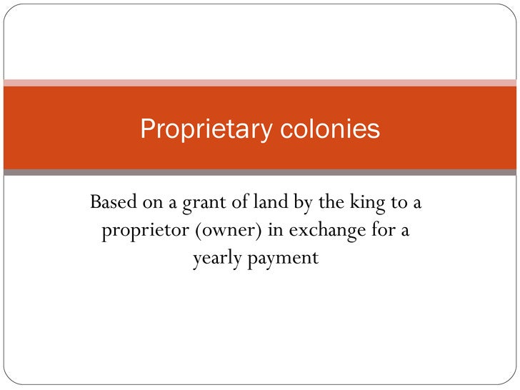 The gallery for --> Proprietary Government Colonies