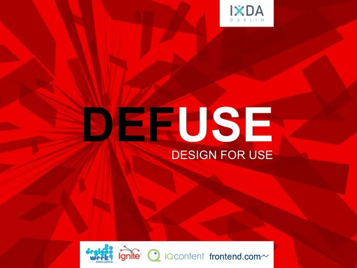 DEF USE DESIGN FOR USE