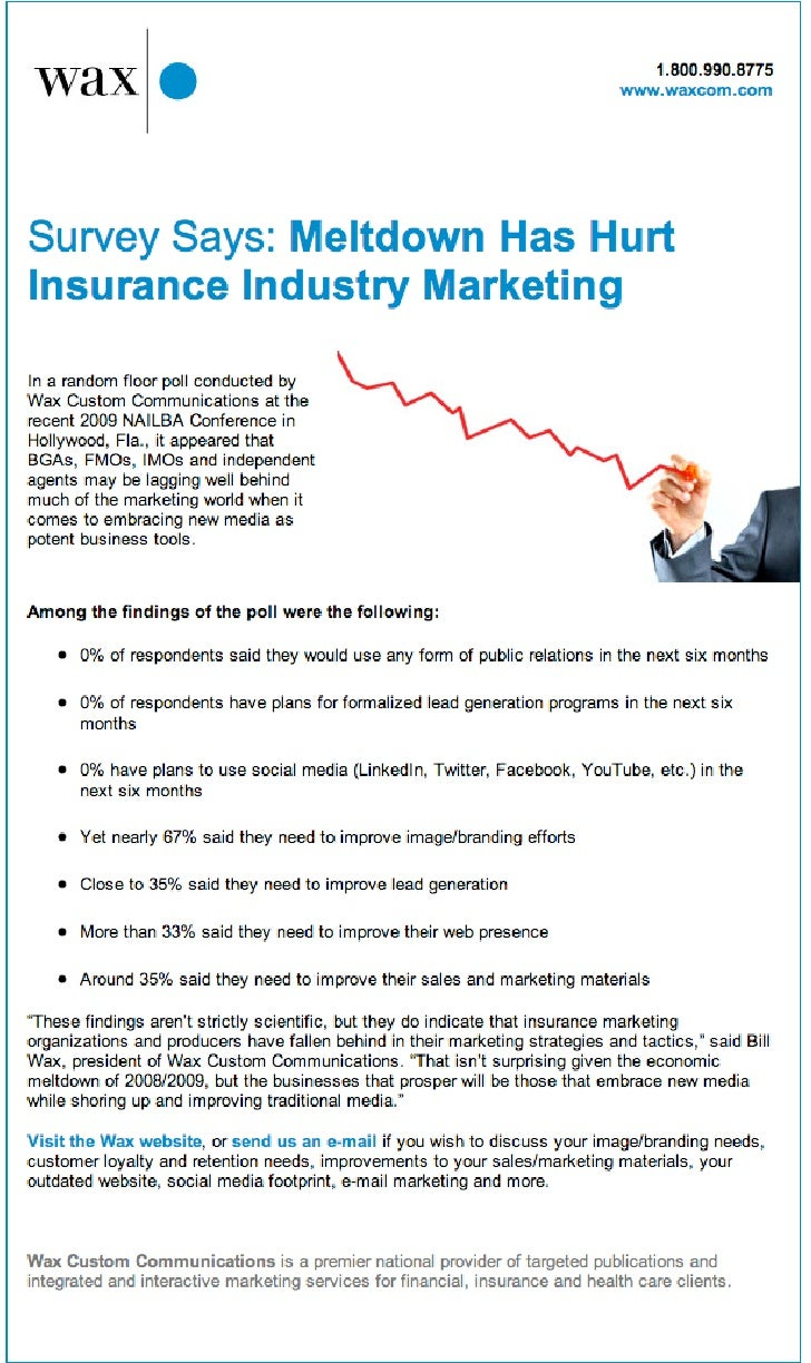 Meltdown Has Hurt Insurance Industry Marketing