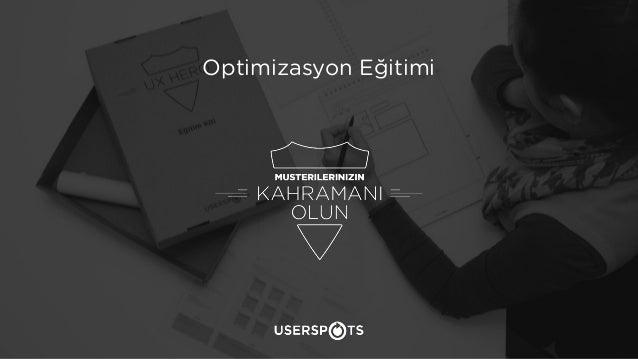 Kullanılabilirlik Eğitimi 1 Optimizasyon Eğitimi