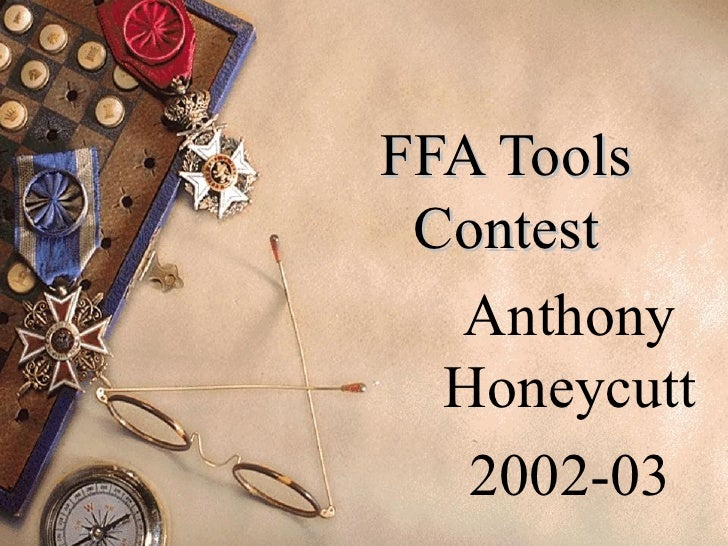 FFA Tools Contest Anthony Honeycutt 2002-03