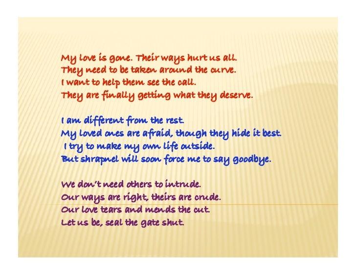 Discrimination poems