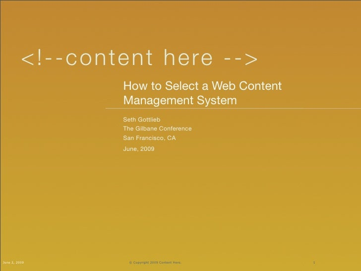 < !- - c on tent he re -->                      How to Select a Web Content                      Management System        ...