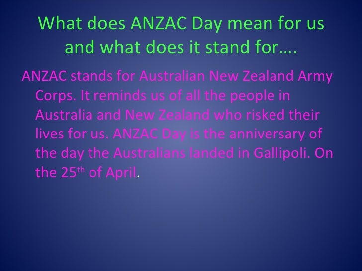 anzac meaning - photo #1