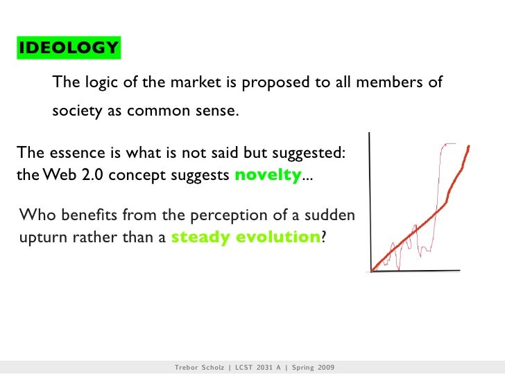 IDEOLOGY     The logic of the market is proposed to all members of     society as common sense.  The essence is what is no...