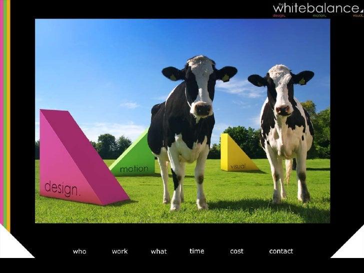 The White Balance portfolio Slide 1