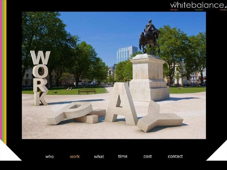 The White Balance portfolio Slide 3