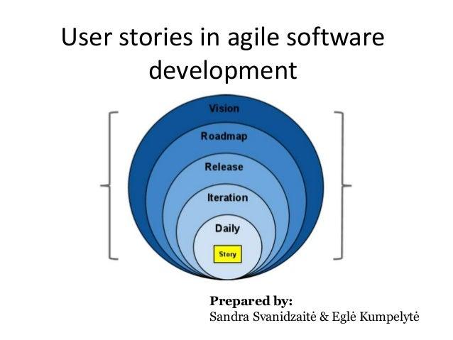 User stories in agile software development  Prepared by: Sandra Svanidzaitė & Eglė Kumpelytė