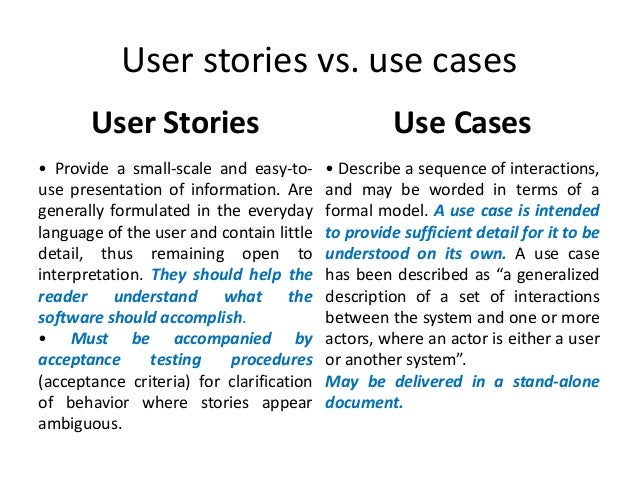 User stories in agile software development – User Story Template