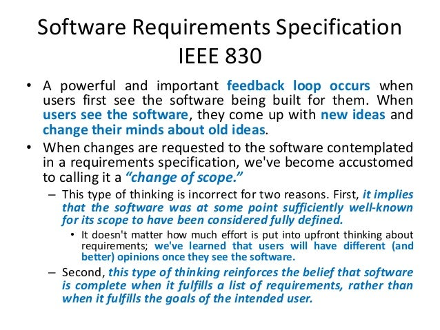 software requirement specification essay Software requirement specification-essay i am not sure how to determine this project by number of words since most of the project seems to be diagrams and drawings.